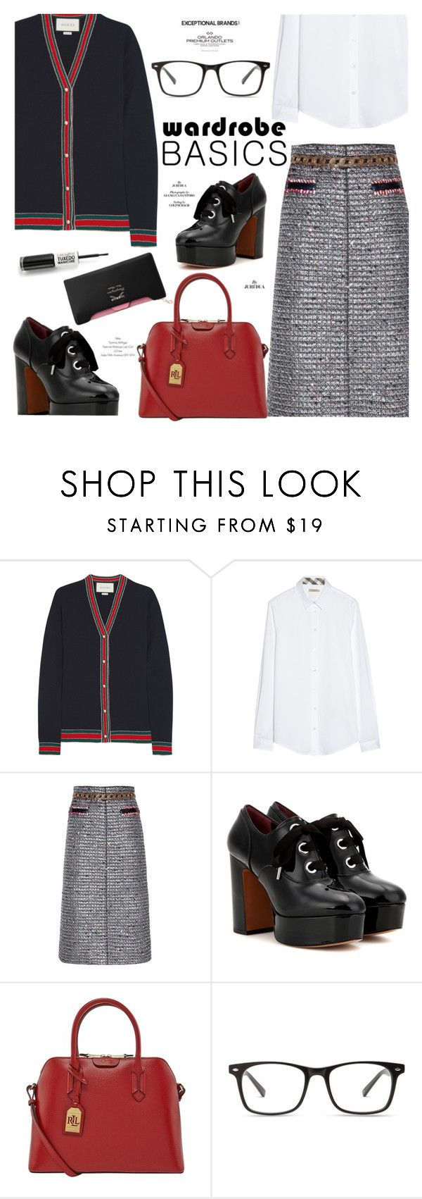 """""""Office"""" by cilita-d ❤ liked on Polyvore featuring Gucci, Burberry, Marc Jacobs and Ralph Lauren"""