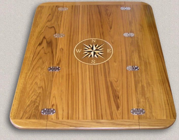Teak Table Tops - Custom Teak Marine Woodwork | Stolik