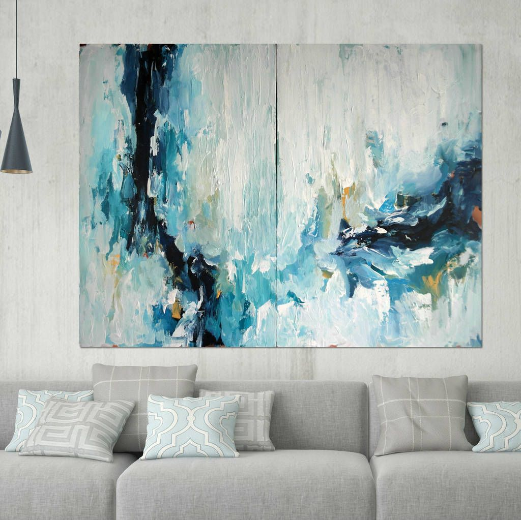 Epiphany Three Large Abstract Painting Diptych Epiphany