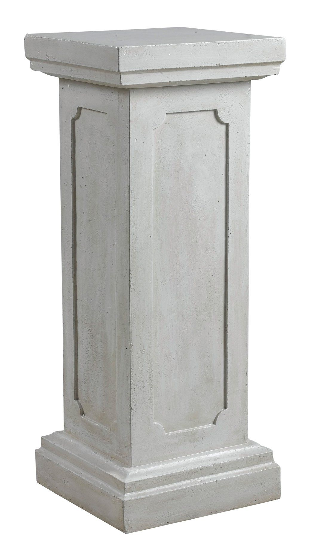 White Pedestal Plant Stands Square White Wash Columns For The Ceremony Aisle Mouse