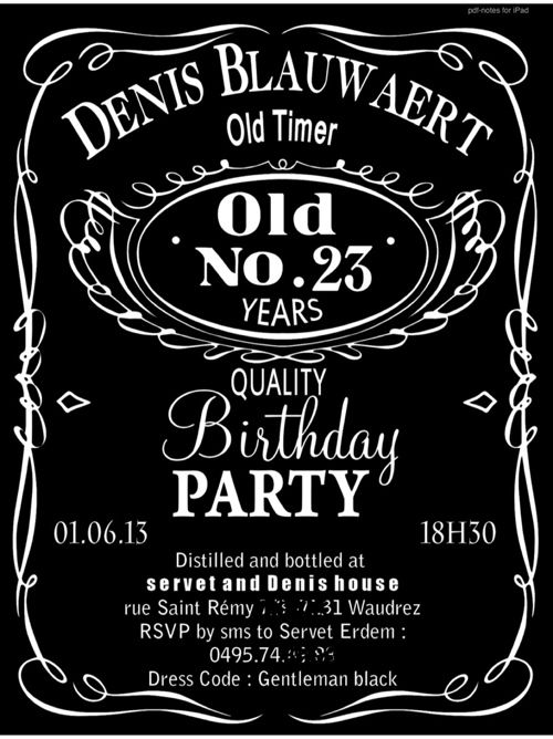 Invitation Personnalisee Jack Daniels Birthday Jack Daniels Birthday Invitations