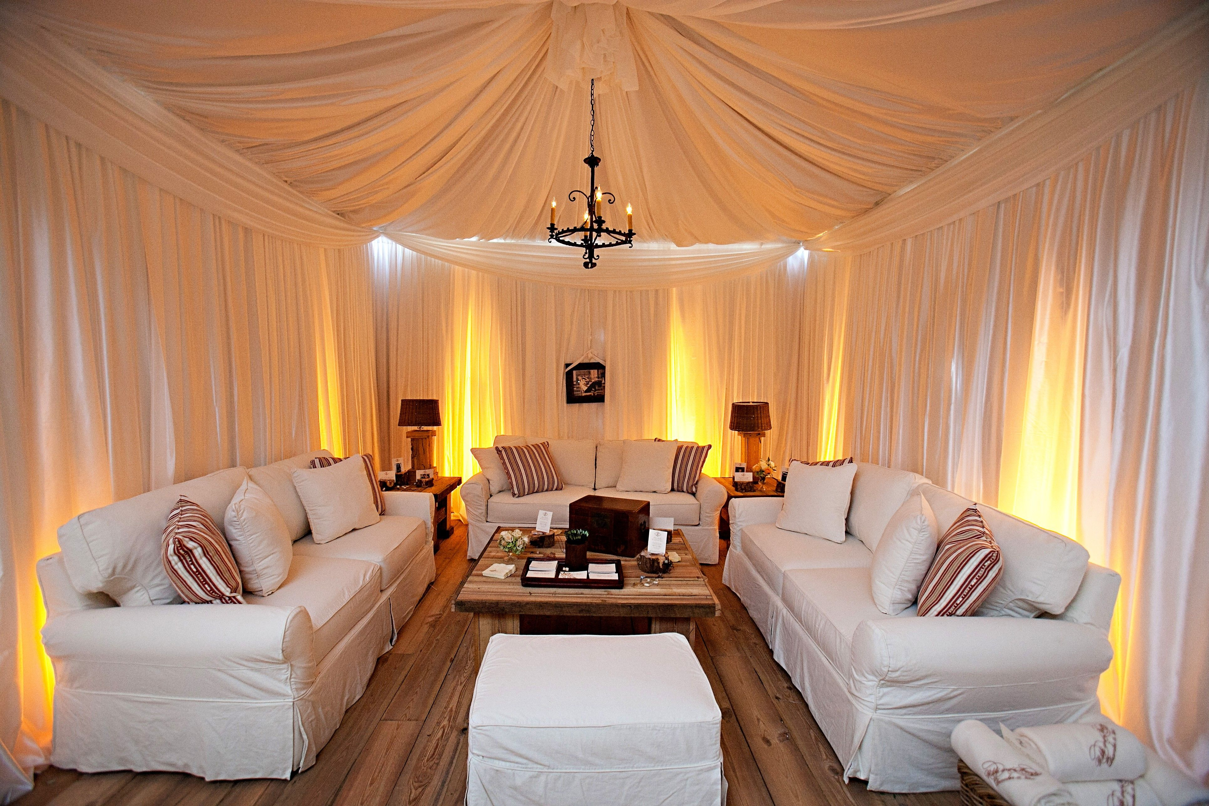 Wedding tent decoration images  Notice the white on white lounge area created as a separate tent for