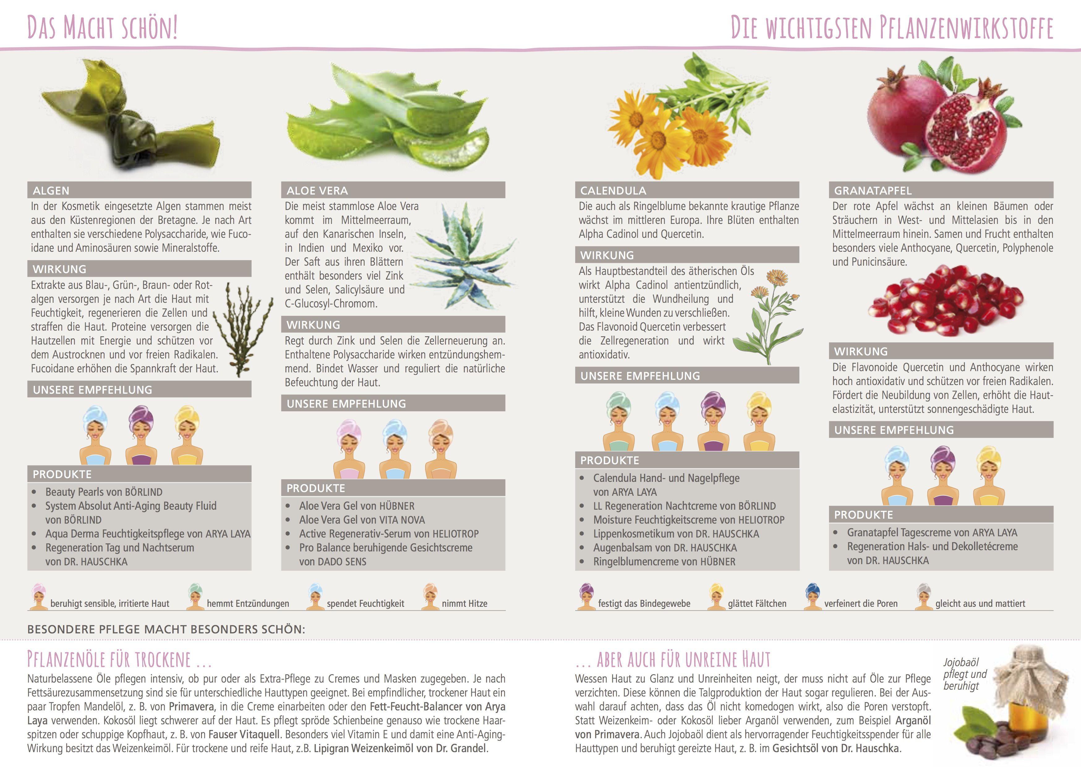 algen, aloe vera, calendula und granatapfel sind nur einige der, Gartengerate ideen