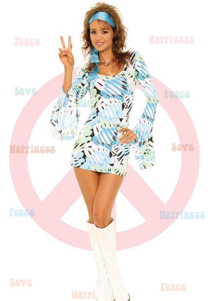 Disco costume, hippie costume, go go dancer, Hippy Halloween Costume