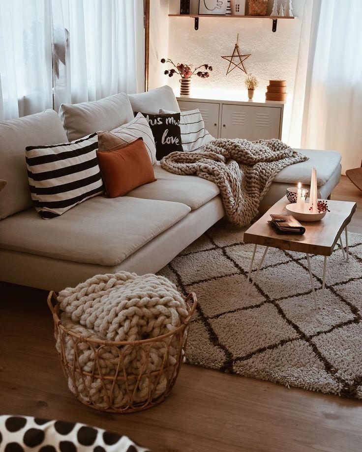 Skandinavisches Wohnzimmer #lounge room styling scandinavian ραυ ♡ on Insta…