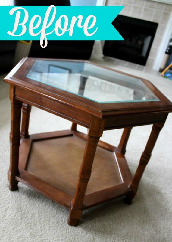 refurbished 1980 s glass top octagon coffee table my diy crafts rh pinterest com
