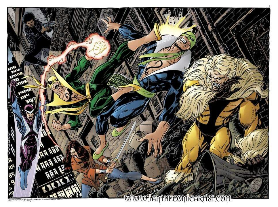 Iron fist vs Steel Dragon and Sabretooth