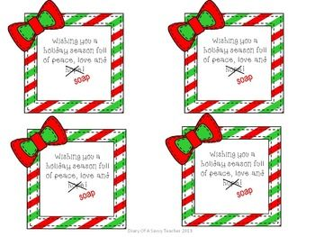 Holiday Soap Gift Tags Diy Holiday Gifts Neighbor Christmas