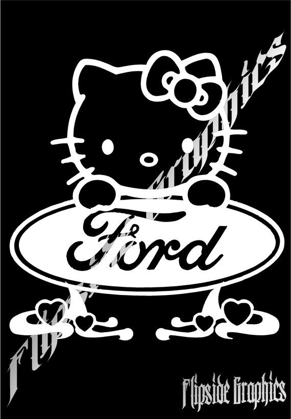 Hello kitty ford decal custom windows cars by flipsidegraphix 11 95