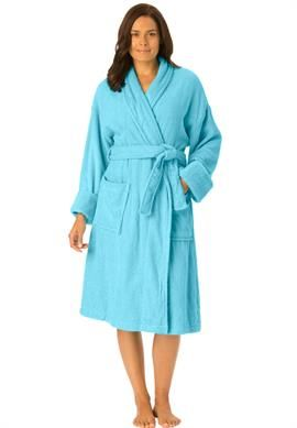 de321bc06d Plus Size Short terry robe with FREE matching slippers Women s plus size  robes