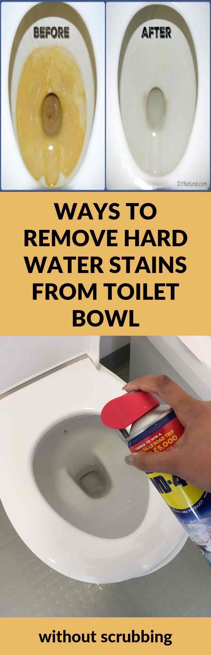 How to remove hard water stains from toilets