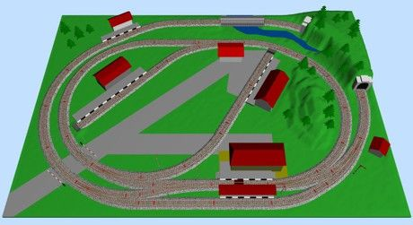 Small Model Train Layouts & Track Plans in HO scale ...