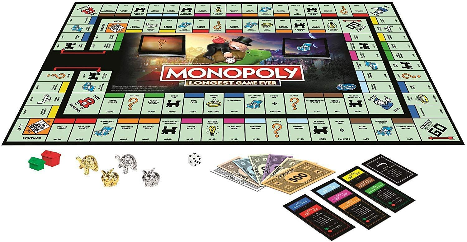 Monopoly LONGEST Game Ever in 2020 Monopoly, Games, Hasbro