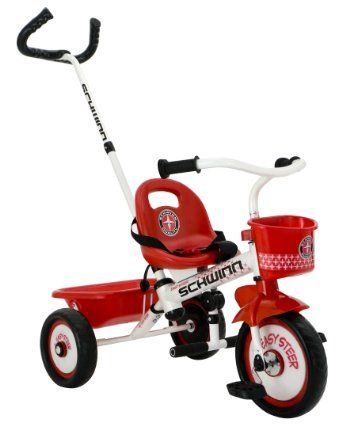 Amazon com: Schwinn Easy Steer Tricycle, Red/White: Toys