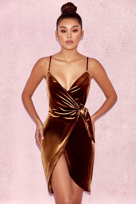 bc85917a Grace Chocolate Velvet Wrap Dress | Love: Chocolates | Dresses, Wrap ...