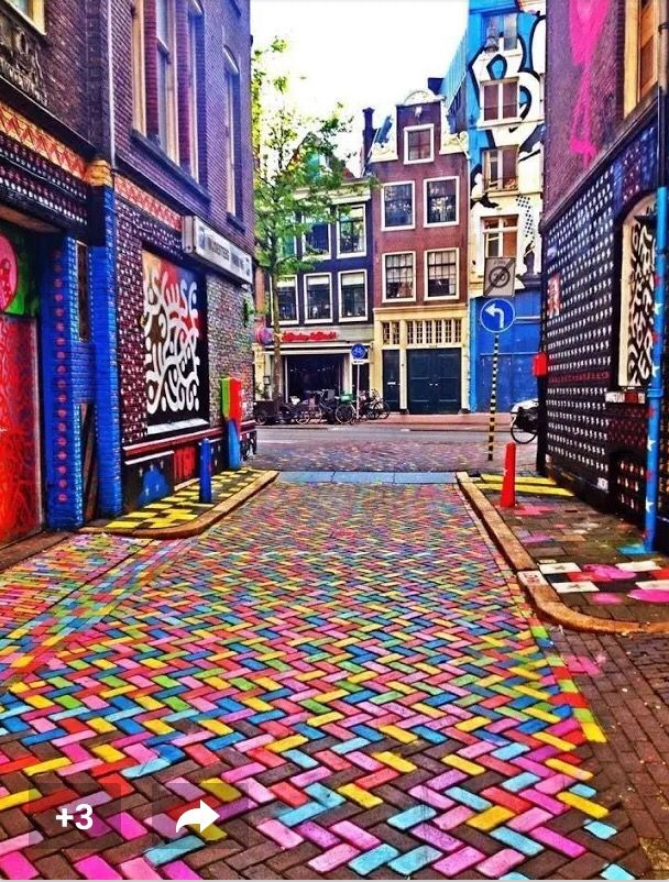Colorful Street in Amsterdam!