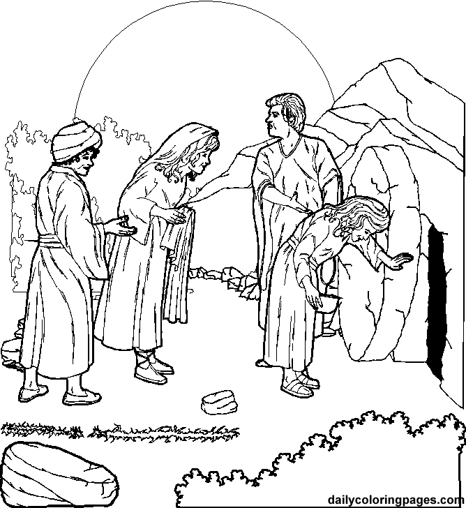 Crucifixion and Resurrection of Jesus Christ Coloring