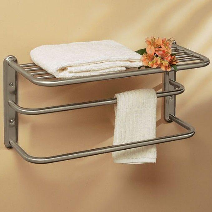 Double Towel Bar with Shelf | Park Ave South | Pinterest | Towel ...