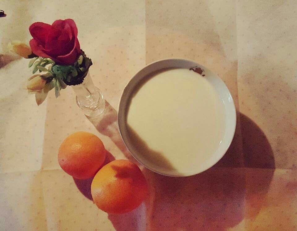 Colazione arance latte e rose ⚘ breakfast spring flower fruit Orange milk roses rose