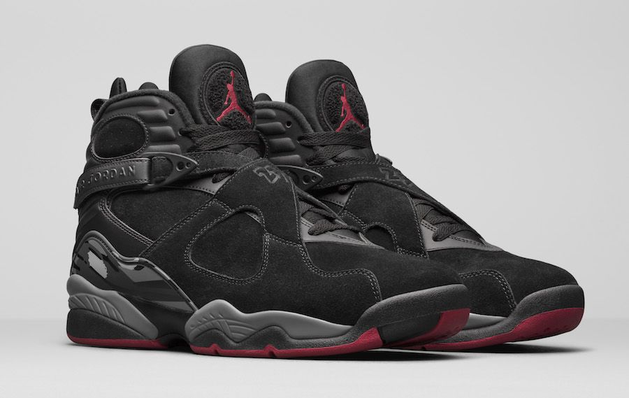 Air Jordan 8 Cement aka Bred is inspired by the Air Jordan 4 that comes  dressed in a Black, Gym Red and Wolf Grey color scheme with a release date  set for