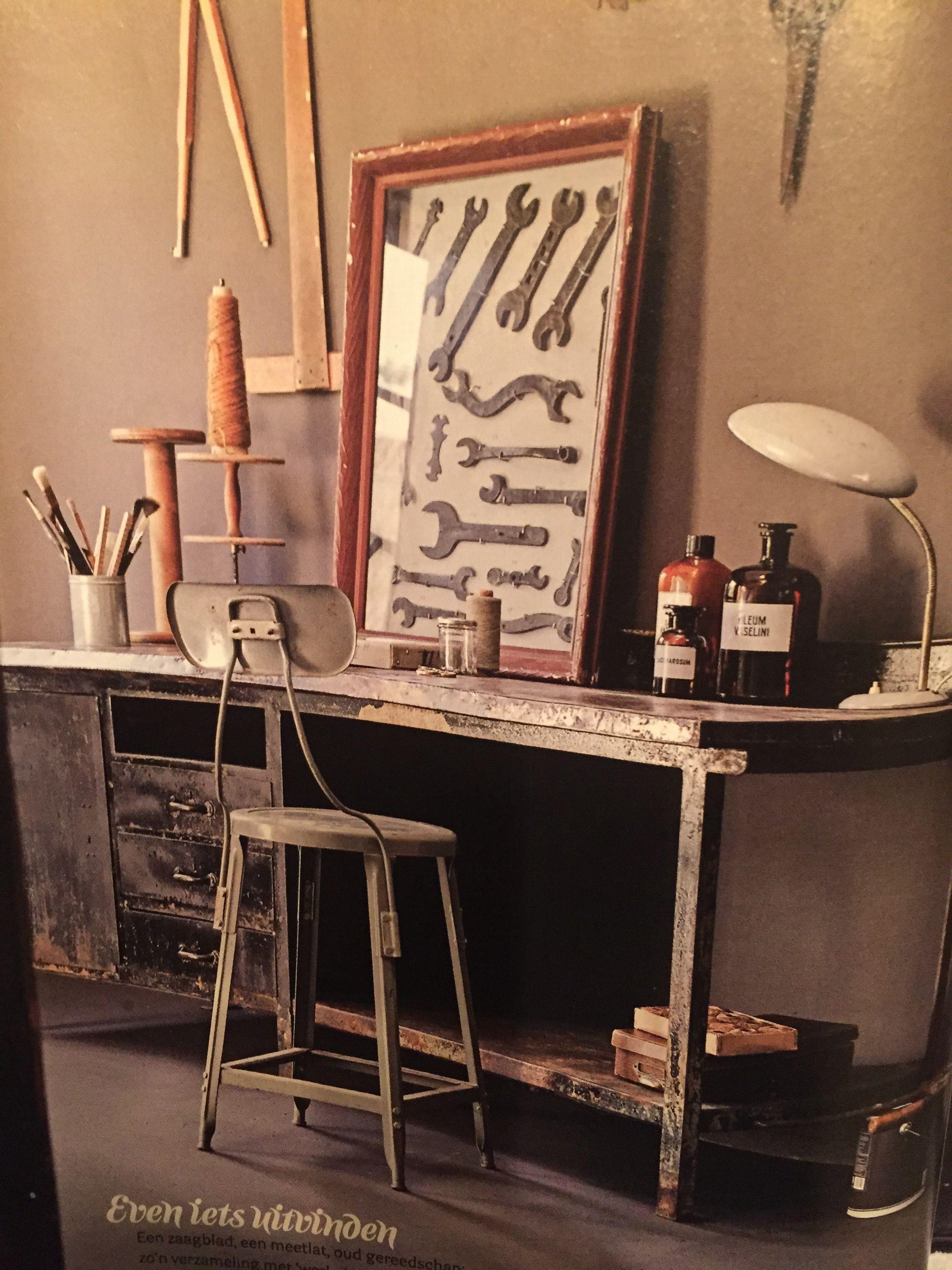 Uit vt wonen van oktober mooie werkplek idee n voor het huis woonkamer pinterest - Tafel treku ...