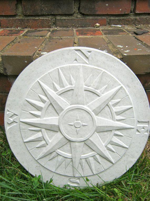 Compass Statue Concrete Garden Plaque Cement By