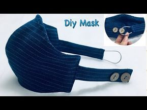Photo of strong masks from old jeans / simple instructions / just print the form