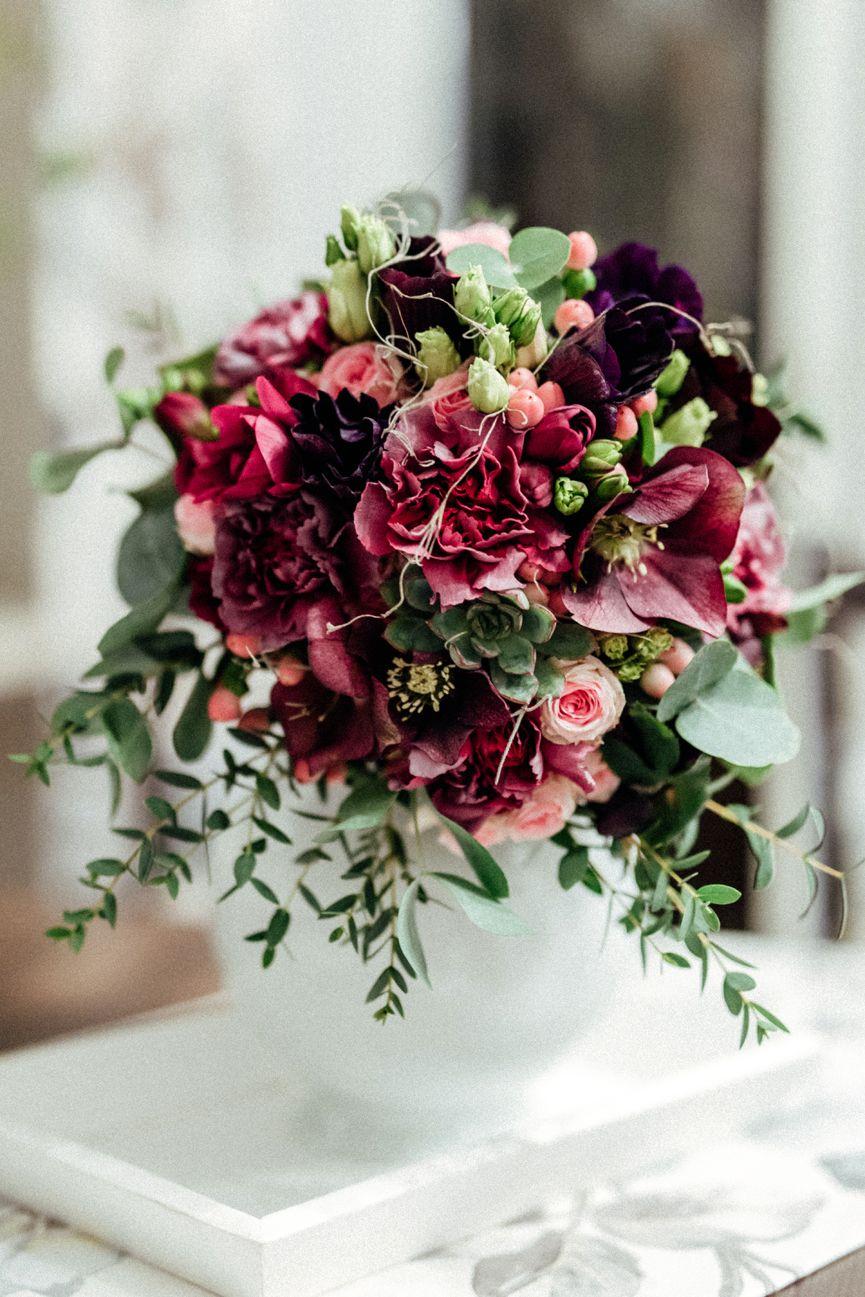 Brautstrauss Februar Hochzeit Blumenstrauss Heiraten Inspiration