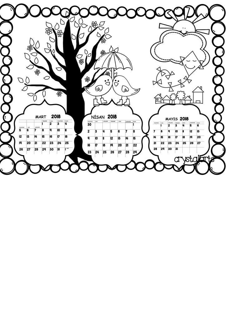 Ilkbahar Ayları 3d Kartları Boyama Kitapları Ve Boyama