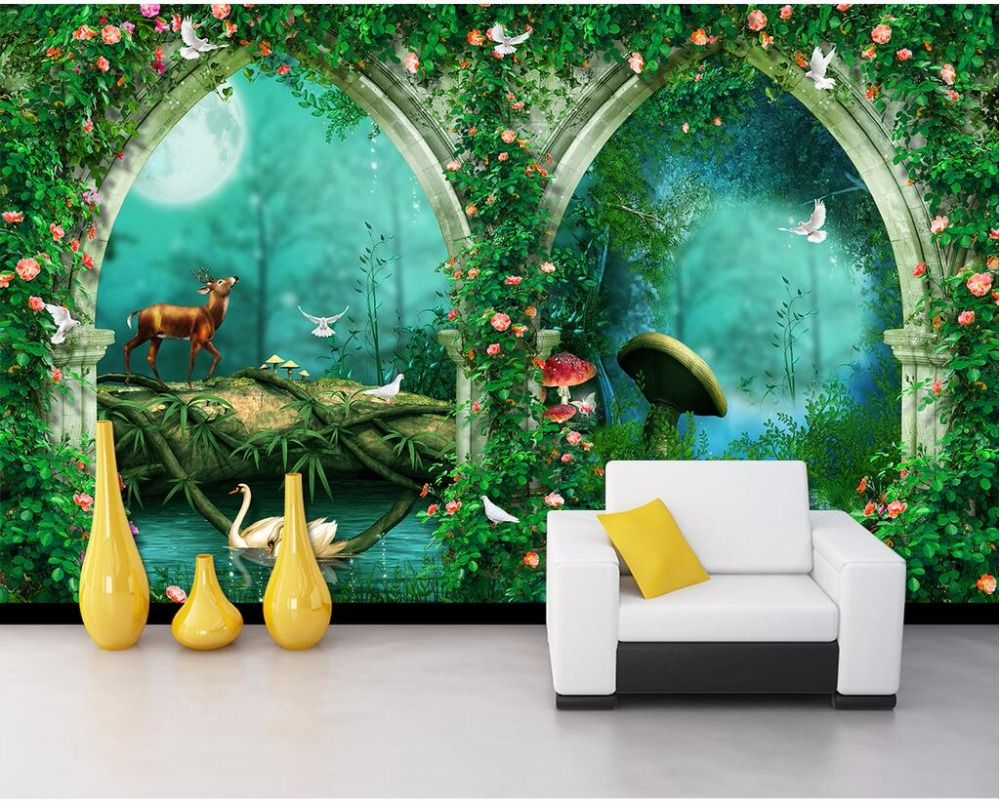 3d wallpaper, Mural wallpaper