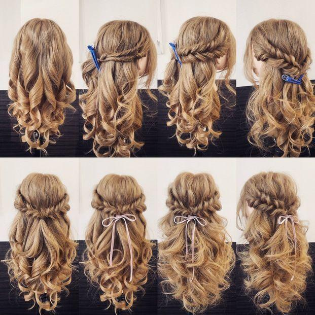Variación de la disposición cómoda del cabello, incluso si hay varios. sí mismo