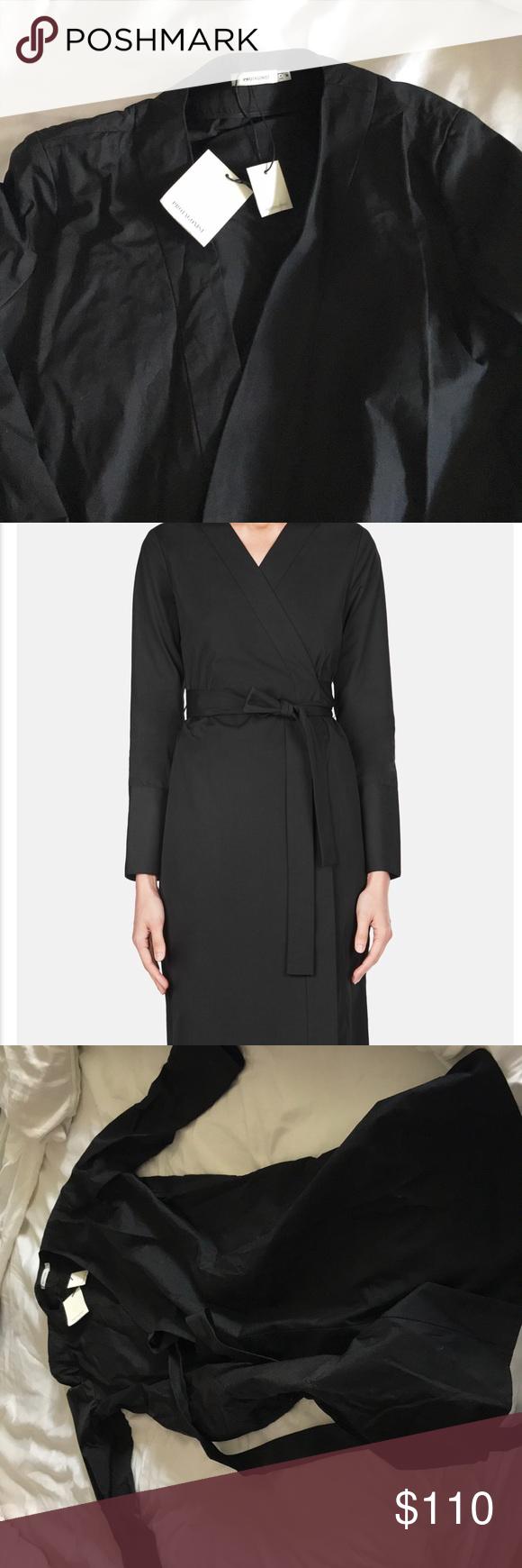 Black wrap dress cotton nwt wrap dresses dresses dresses and wraps