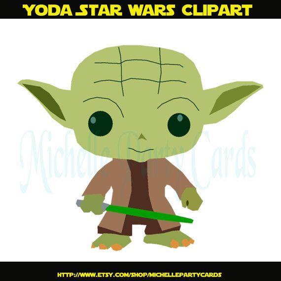 yoda star wars clipart illustration by michellepartycards on etsy rh pinterest com yoda clipart images yoda clipart images