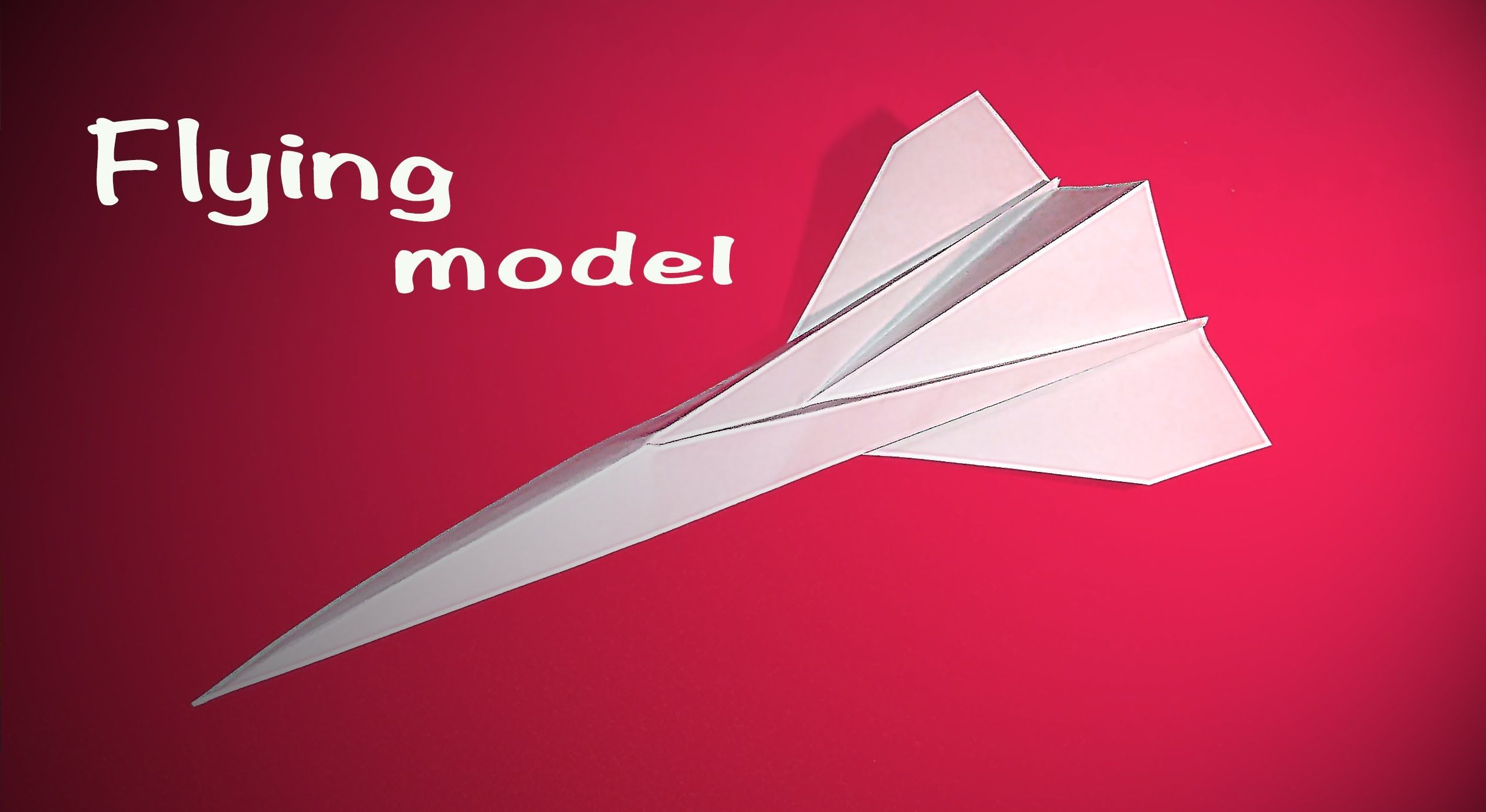 Easy Origami Concord Flying Model Paper Airplane Concord Only 9 Steps Origami Easy Paper Airplanes Paper Plane