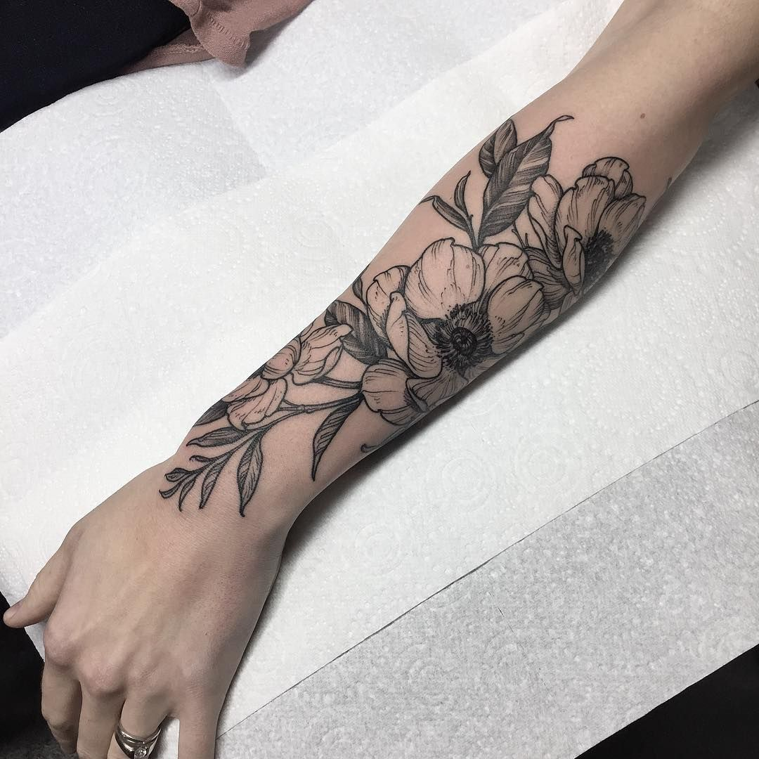 anemones for Kathleen. done at thecirclelondon (With
