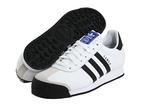 adidas samoa white and black
