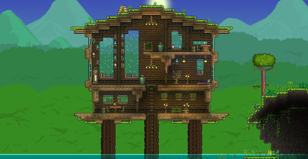Terraria jungle house by xploslime7 terraria sigh i for Terraria house designs
