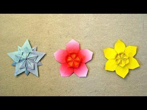 Origami Instructions: Sakura Star (Ali Bahmani) - http://www.7tv.net/origami-instructions-sakura-star-ali-bahmani/