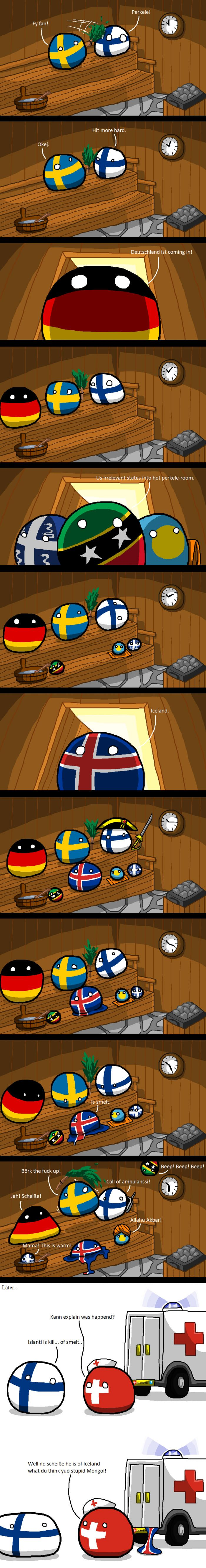 Plaatjes Sauna Iceland Cannot Into Sauna Country Balls Funny Funny Comics