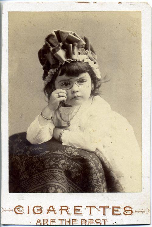 Cigarettes are the best  1886 | Vintage Children Photos