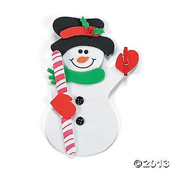 Snowman Clip Magnet Craft Kit