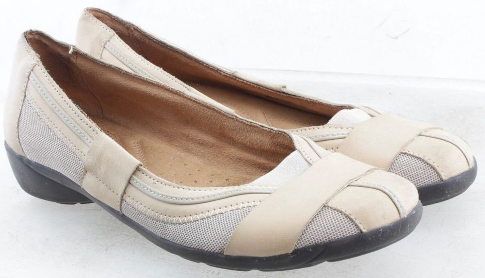 2d61af08c462 Naturalizer Nella Women s Size 8.5 M Beige Slip On Flats Shoes  Naturalizer   Flats  Casual