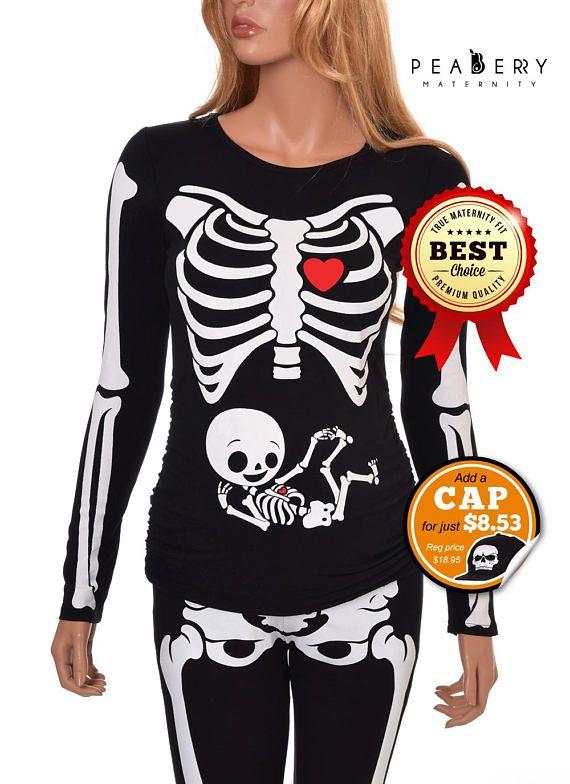 Maternity Halloween Skeleton Shirt Halloween Costume Tshirt Pregnant Halloween Skeleton Shirt Pregnant Halloween Costumes