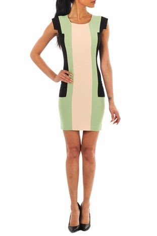 Ziata Pencil Dress Green fra Kouture