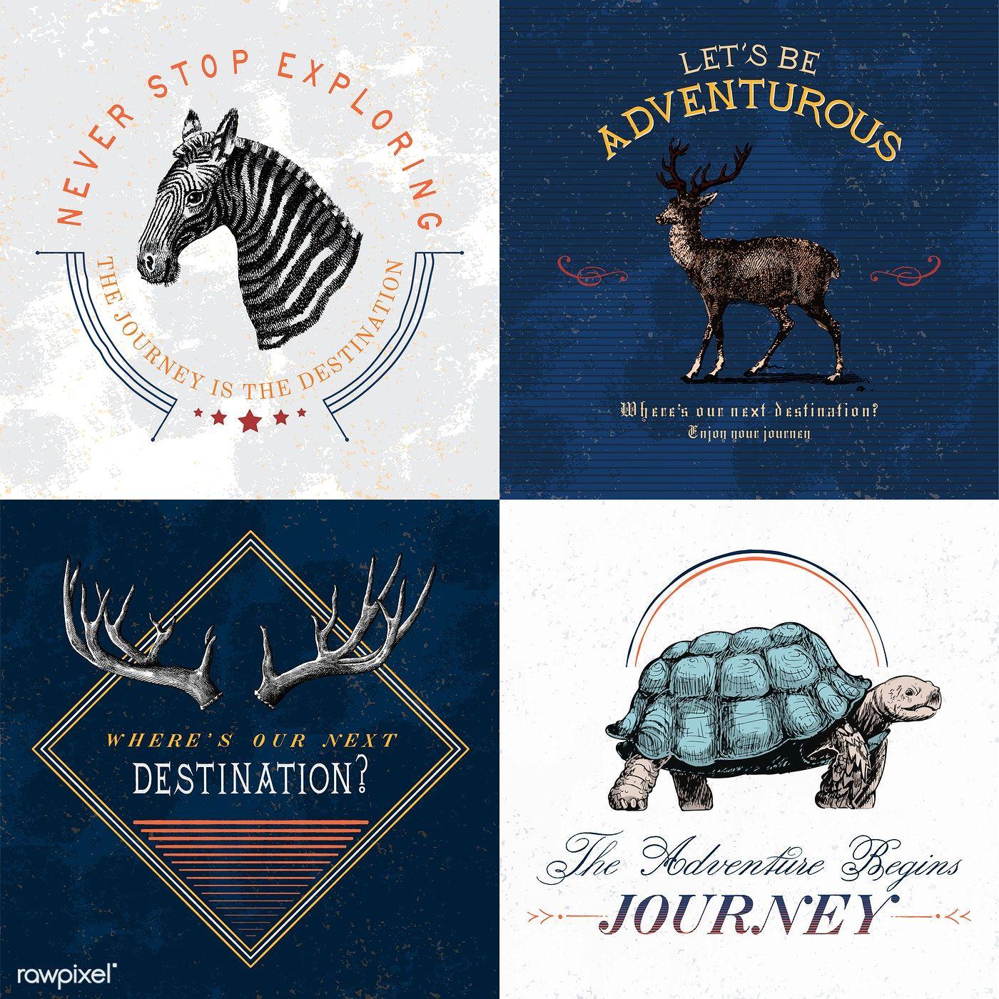 Collection of adventure logo design vectors free image