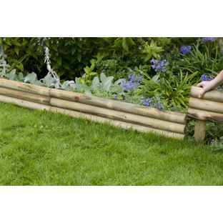 Horizontal Log Edging From Homebase Co Uk How Does Your Garden