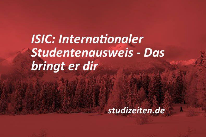 ISIC ist dein internationaler Studentenausweis, mit dem du überall auf der Welt ein Student bist. Diese ISIC Card bietet viele Vorteile.…