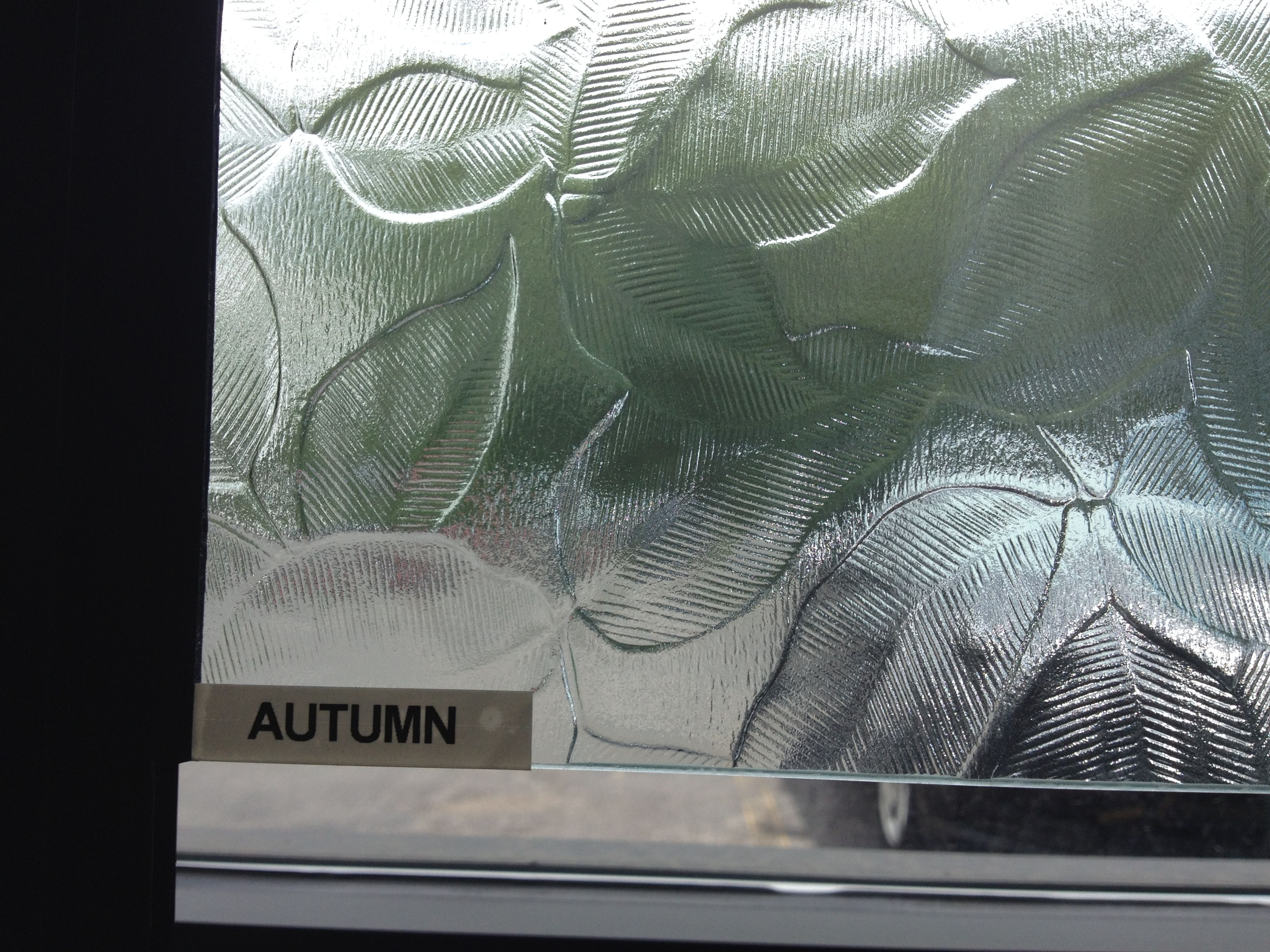 Autumn Glass, With Itu0027s Leafy Look, Can Be Used In Your Cabinets, Room