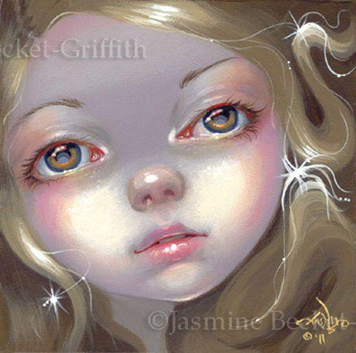 Fairy Face 137 Jasmine Becket-Griffith Big Eye Fantasy Nymph SIGNED 6x6 PRINT