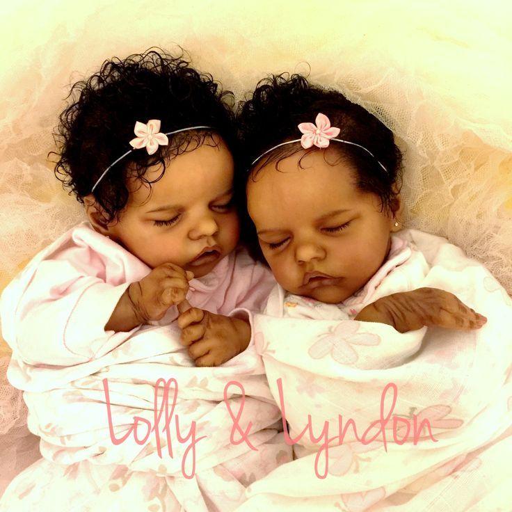 "26cm/11"" Lifelike Boy Girl Twins Infant Baby Dolls"